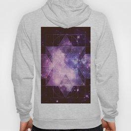 Galaxy Sacred Geometry: Purple Rhombic Hexecontahedron Hoody