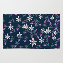 Beautiful pattern design with flowers in vintage style Rug
