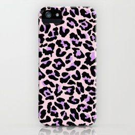Pastel leopard fur II iPhone Case