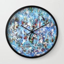 GOOD MORNING BLUE Wall Clock