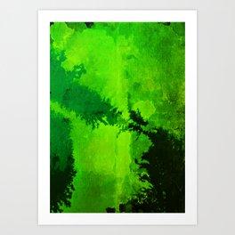 G R E E N Art Print