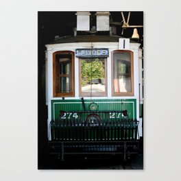 The green tram Canvas Print