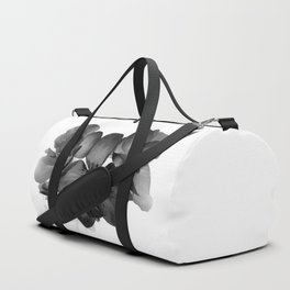 Black Geranium in White Duffle Bag