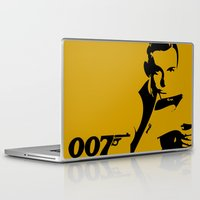 james bond Laptop & iPad Skins featuring 007 James Bond by Walter Eckland