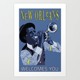 New Orleans welcomes you Art Print