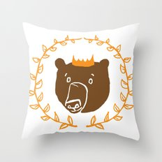King of the Bears Throw Pillow