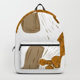 Boxer Punching Bag Drawing Backpack