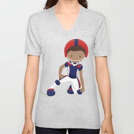 African American Boy, Cute Boy, American Football Unisex V-Neck