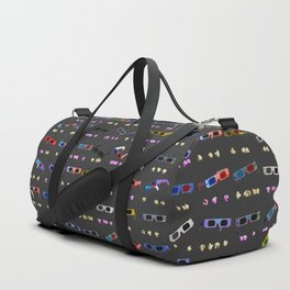 3D Movie Glasses pattern Duffle Bag
