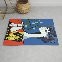 Picasso - Jacqueline with flowers Rug