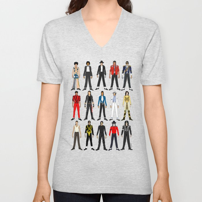 Outfits of King MJ Pop Music Unisex V-Neck