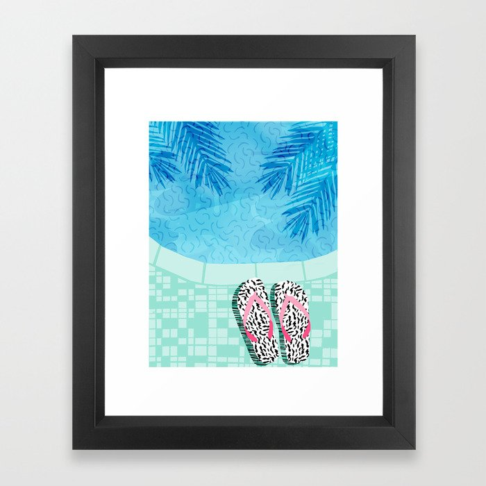 Go Time - resort palm springs poolside oasis swimming athlete vacation topical island summer fun Framed Art Print