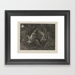 Alexander the Great visits Diogenes, Karl Russ, c. 1807 - c. 1815 Framed Art Print