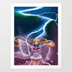 Lightning Crashes Art Print