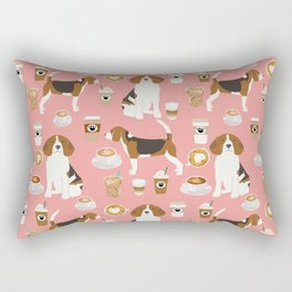 Beagle coffee dog breed gifts pupuccino dog lover beagles pure breed Rectangular Pillow