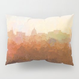 Madison, Wisconson Skyline - In the Clouds Pillow Sham