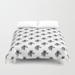 Seamless Background Astronaut Duvet Cover