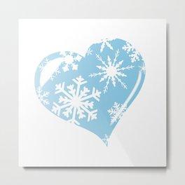 Ice Heart Metal Print