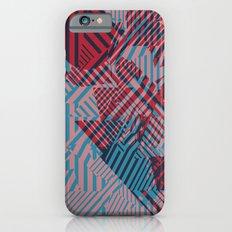 Dazzle Camo #02 - Blue & Red Slim Case iPhone 6s
