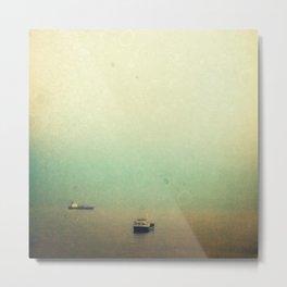 Solitary ships Metal Print