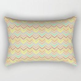Modern geometrical pink yellow green chevron zigzag pattern Rectangular Pillow