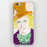 willy wonka iPhone & iPod Skins featuring Wilder Wonka by Joshua A. Biron