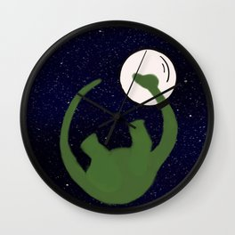 Dave the Dinosaur in Space Wall Clock