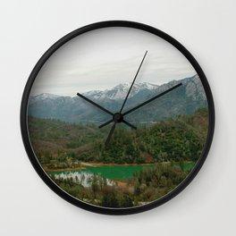 Serenity in Mt. Shasta Wall Clock