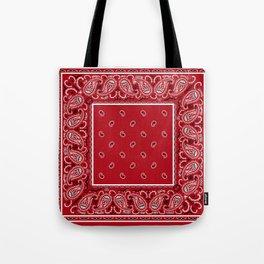 Classic Red Bandana Tote Bag