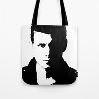 winchester Tote Bags featuring Dean Winchester by redheadedwalker