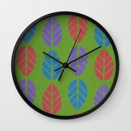Leaf Pattern Wall Clock