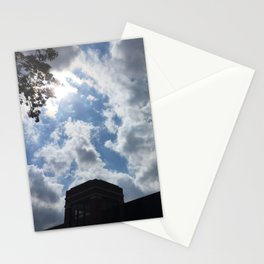 cloudy campus afternoon Stationery Cards