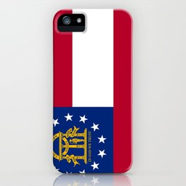 flag of the state of Georgia-Georgian,Gone with the wind,Atlanta,Colombus,Macon,Scarlett o'Hara,Usa iPhone Case