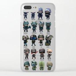Rainbow Six Siege Chibis Clear iPhone Case