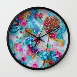 Lily Pond Dreaming Wall Clock