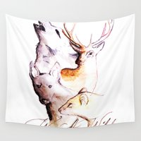 marauders Wall Tapestries featuring The Marauders - We Are Wild by TheOddOwl