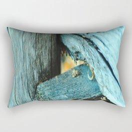 Wood Triangle Rectangular Pillow