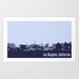 Venice Beach, Los Angeles Art Print
