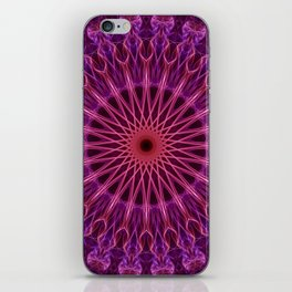 Detailed mandala in violet and pink colors iPhone Skin