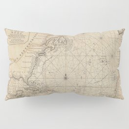 1683 Map of North America, West Indies, and Atlantic Ocean Pillow Sham