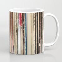 record Mugs featuring Record Collection by Cassia Beck