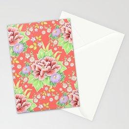 Coral Kimono Chintz Stationery Cards