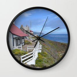 behind the lighthouse Wall Clock