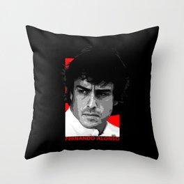 Formula One - Fernando Alonso Throw Pillow