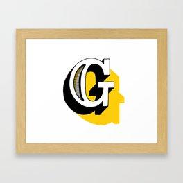 G Framed Art Print