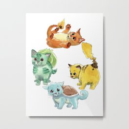 Starter Pokekittens Team Metal Print