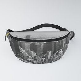 New York City Black and White Fanny Pack