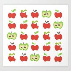 apple lover Art Print