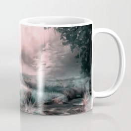 acrylic misty forest painting 2 acr2s Coffee Mug