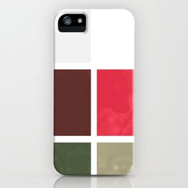 Red Rose with Light 1 Abstract Rectangles 1 iPhone Case